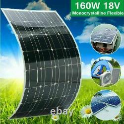 100W200W Watt Solar Panel Kit 12Volt Battery Charge Controller RV Caravan BoatUS