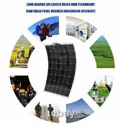 100W200W Watt Solar Panel Kit 12Volt Battery Charge Controller RV Caravan gs