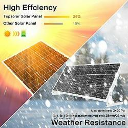 100W 12V Solar Panel Kit Battery Charger 100 Watt 12 Volt Off Grid System for Ho