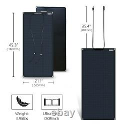100W 12V Volt Flexible Solar Panel for Battery Charge RV Marine Boat Camping