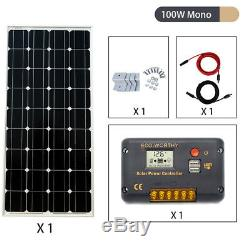100W 200W 300W Solar Starter Kit 12Volt Solar Charge System Camping RV CARAVAN