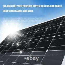 100W 200W Watt Solar Panel Kit 12 Volt Battery Charge Controller RV Caravan Boat
