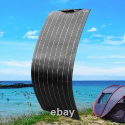 100W ETFE 16 volts Flexible Solar Panel Mono for 12V Battery RV Boat Car Charger