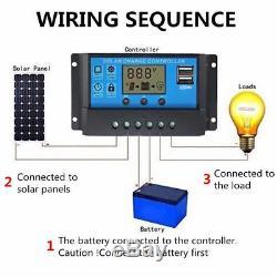 100W SOLAR PANEL + USB + 12 Volt CHARGE REGULATOR + 5M CABLE SELF BUILD CAMPER