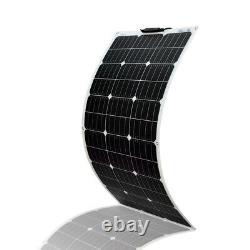 100W Solar Panel Kit 12Volt Battery Charge Controller RV Camper Boat Car Battery