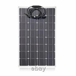 100W Solar Panel Mono 18V Volt for Off Grid RV Boat Battery Charge Trip&Camping
