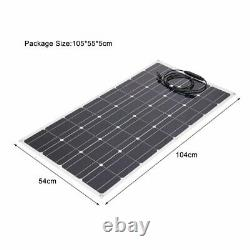 100W Watt 100W 18 Volt Mono Flexible Solar Panel For RV Boat Camping Home BK