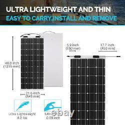 100W Watt 12 Volt Flexible Mono Solar Panel Boat RV Camping