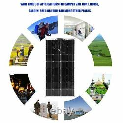 100W Watt Solar Panel Mono 18V Volt for Off Grid RV Boat Battery Charge Or