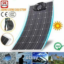 100/150/160/175W Flexible 18Volt Monocrystalline Solar Panel Off Grid RV Marine