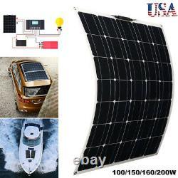 100/150/160/200 Watt 12 Volt Monocrystalline Lightweight Flexible Solar Panel GF