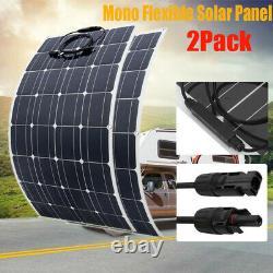 100/150/160 Watt Solar Panel 12Volt Battery Charge Controller RV Caravan Boat 2x