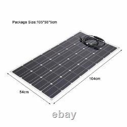 100 Watt 100W 18V 18Volt Solar Panel Battery Charger RV Boat Camping Off OW