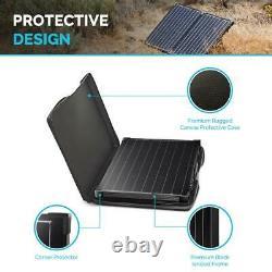 100-Watt 12-Volt Monocrystalline Off-Grid Portable Foldable 50-Watt Solar Panel