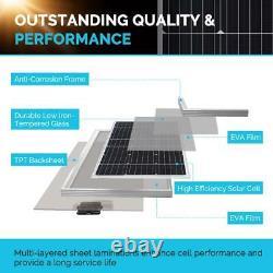 100-Watt 12-Volt Monocrystalline Off-Grid Solar Starter Kit with MPPT Charge