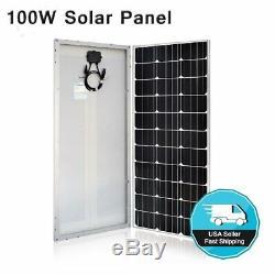 100 Watt 12 Volt Monocrystalline Solar Panel 100W 12V Mono Off Grid Power BT