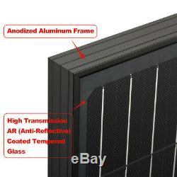 100 Watt 12 Volt Monocrystalline Solar Panel All Black