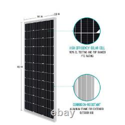 100 Watt 12 Volt Monocrystalline Solar Panel (Compact Design)