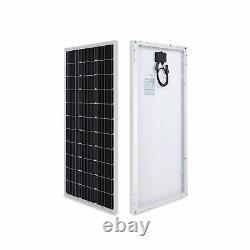 100 Watt 12 Volt Monocrystalline Solar Panel Compact Design High Efficiency Easy