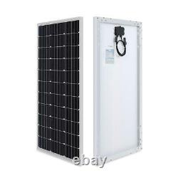 100-Watt 12-Volt Monocrystalline Solar Panel Compact Design with Aluminum Frame
