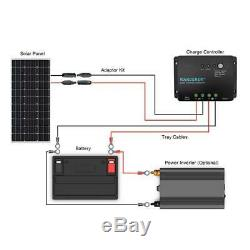100 Watt 12 Volt Monocrystalline Solar Starter Kit For Off Grid Solar System NEW