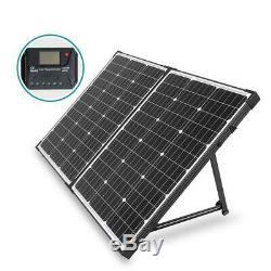 100 Watt 12 Volt Off Grid Monocrystalline Portable Folding Solar Panel Built In