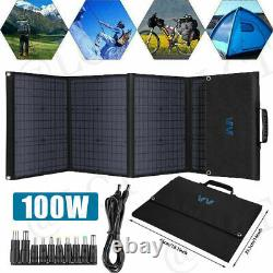 100 Watt 12 Volt Portable Foldable Solar Panel Suitcase Battery Charger for RV