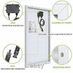 100 Watt 12 Volt Solar Panel Starter Kit, High Efficiency Monocrystalline PV