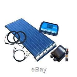 100 Watt BLACK Wohnmobil Camping Solaranlage, 12 Volt SET