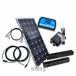 100 Watt BLACK Wohnmobil Solaranlage mit Steca Laderegler PR1010, 12 Volt SET