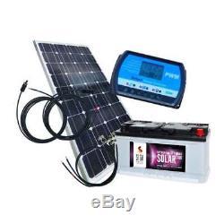 100 Watt Inselanlage, 12 Volt SET mit Batterie