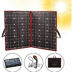 100 Watts 12 Volts Monocrystalline Foldable Solar Panel With Charge Controller