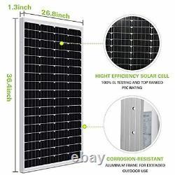 100w Solar Panel Charger for 12v Battery 12 Volt RV Camper Marine Boat Trailer A