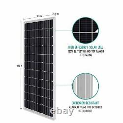100watt Solar Panel Kit Charger for 12 Volt Battery 12v V Travel Trailer RV Best