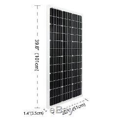 10 pcs 100 Watt 12 Volt Solar Panel 1000W Off Grid Power Charger Farm RV Boat