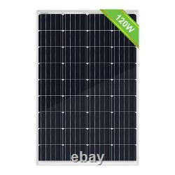 120W 12V Volt Solar Panel Battery Charge For RV Trailer Van 0.5KWH Per Day