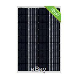 120W Watt 12Volt Mono Solar Panel High Efficiency for Car Boat Home SUV RV Van