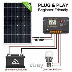 120 Watts 12Volts Solar Starter Kit Monocrystalline Solar Panel + 20A PWM Charge
