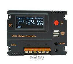 12 Volt 100W 200W Watt Flexible Solar Panel Kit For RV Marine Battery Charge