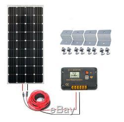 12 Volt 400W 200W Watt Solar Panel Kit High Efficiency Monocrystalline RV Home