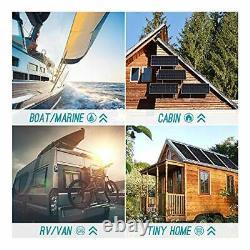 12 Volt Monocrystalline Solar PaneBattery Charging Boat Caravan RV 100W PV Power