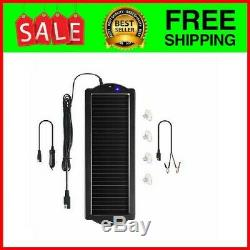 12 Volt Solar Battery Maintainer Waterproof Car RV Charger Tender Trickle 1.5W