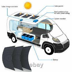 130W 12V Volt Flexible Solar Panel For Battery Charging RV Marine Boat Camping