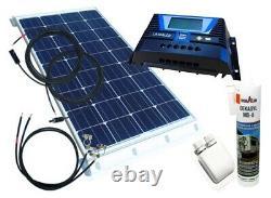 130 Watt Wohnmobil Camping Solaranlage, 12 Volt SET