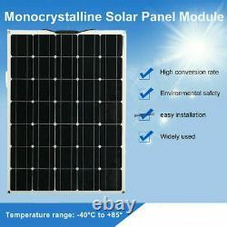 150Watt 18Volt Solar Panel 300W 18V Off Grid Power Charge RV Boat Home Garden US