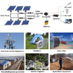 150 Watt 150W Watts Solar Panel 18V Volt Poly Off Grid Battery Charge RV Boat OY