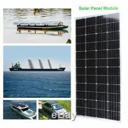 170 Watts Solar Panel 12 Volts Monocrystalline 48Cell RV Marine Boat Off Grid SS