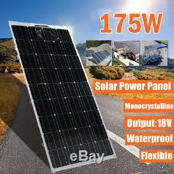 175W Watt Solar Panel Mono 18V Volt for Off Grid RV Boat Battery Charge 1x