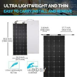 175-Watt 12-Volt Flexible Ultra-Thin Monocrystalline Solar Panel for RVs & Boats