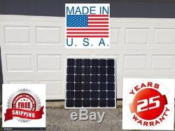 1- 200+25% Watt 12 Volt Battery Charger Solar Panel Off Grid RV Boat